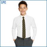 Школьная форма рубашек втулки тонких мальчиков пригонки старших Non-Iron длинняя