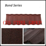 Bond Tipos de Areia Revestida de Telha de Metal Revestido / Terracotta Cor Pedra Chip Steel Telhado Painel