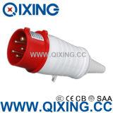 Штепсельная вилка Cee 16A 4p 400V красная промышленная с кабелем PVC