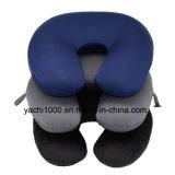 Cuscino a forma di U del collo stampato tessuto dello Spandex