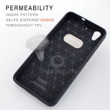 Противоударная почетность 5A Huawei аргументы за телефона волокна углерода TPU