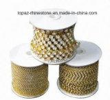 Цепь чашки Strass Peridot Ss8 2.5mm цепная кристаллический латунная (серебр TCS-SS8)