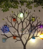 Feenhafte LED Solarlichter des im Freiengebrauch-wasserdichte schöne hängende Himmelskörper-Maurer-Glas-Leuchtkäfer-