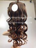 De mode perruque synthétique ondulée de cheveu longtemps/sensation cheveux humains