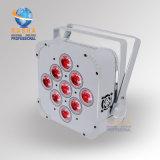 Weißes Hexagon 9*18W 6in1 Rgbaw LED flaches NENNWERT Licht LED dünnes NENNWERT Licht des Fall-DMX512 für KTV Partei-Stadium