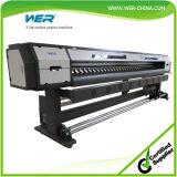 SGS는 3.2m 10feet 2 Dx5 맨 위 비닐 Eco 용매 인쇄 기계를 승인했다