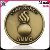 Free Artwork Gold Plated Coin with Sanded Effect (MTCN012)
