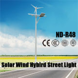 Nouveau design 50W éolienne et solaire Rue lumière hybride