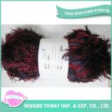 Marcas de fios texturizados tricotado grossas diversão fuzzy de fios de peles com pêlo