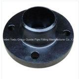 Bride de collet de soudure d'acier du carbone d'ajustage de précision de pipe
