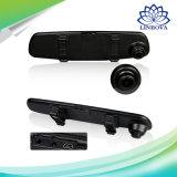 "Fhb 1008p 4.3 "" 4.0 "" LCDスクリーンの手段のブラックボックス車のダッシュカム背面図ミラーのモニタの後ろDVRのビデオレコーダーの二重バックアップカメラレンズ"