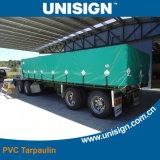 Revêtu de PVC imperméable à l'eau rayé UV Sunshade Tarpaulin