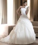 2016 vestidos nupciais de perolização requintados do laço do vestido de casamento