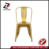 Glossy Gold Metal Empilable Tolix Style Industriel Chic Dining Bistro Cafe Chairs
