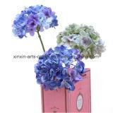 Migliori fiori artificiali di vendita del gambo del Hydrangea di tocco reale di seta di seta singolo del fiore