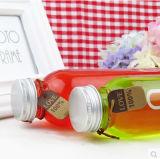 350ml Flacons en verre carré pour les boissons, jus de fruits, bouteilles d'eau potable