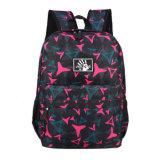 Course noire de sports augmentant le sac de sac à dos d'école de sacs à dos
