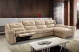 Hote-Vendendo o sofá de couro bege Home moderno do Recliner da sala de visitas (HC3030)