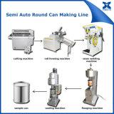 Lata de estanho Semi automática do metal da pintura 1-5L que faz a maquinaria
