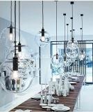 Suspensão quente da venda da esfera simples moderna que ilumina a luz do pendente da esfera de vidro com Ce/UL