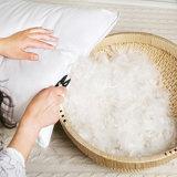 Siliconized 7D de fibra virgen 100% algodón almohada