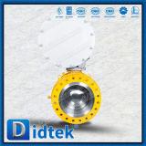 Didtek forjó la vávula de bola neumática del muñón de A105n 3PCS