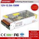 alimentazione elettrica di commutazione di video di obbligazione di 12V 12.5A 150W