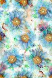 Флористическая картина для ткани Cdc печатание цифров Silk