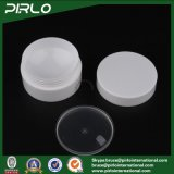 vaso di lusso doppio della crema di cura di pelle del vaso cosmetico bianco di plastica di colore di 10g pp con il vaso vuoto della plastica 10g del coperchio interno e del coperchio