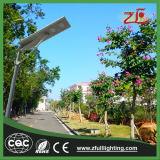 Réverbère solaire Integrated du réverbère DEL avec le panneau solaire