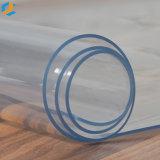 Pellicola trasparente molle del PVC della tinta blu