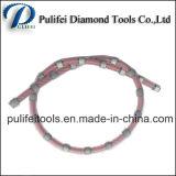 De rubber Zaag van de Draad van de Diamant van de Lente voor het In blokken snijden van het Graniet versterkt Beton