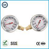002ステンレス鋼が付いている液体のオイルの満たされた圧力計