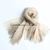 100% Worsted Wool Printed Stole Shawl (AHY30004120)