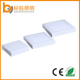 Casa delgada superficie de techo de luz 6W 12W 18W 24W LED Pequeño panel AC85-265V