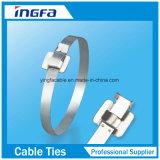 Laços de cabos revestidos de aço inoxidável