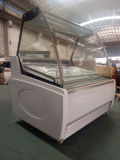 Ice Ice Cream Display Freezer com placa transparente