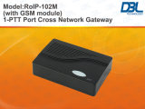 Rádio da Cruz-Rede de DBL sobre o buildin SIP do Gateway RoIP-102M do IP