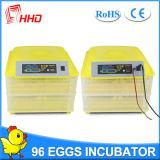 Incubadora automática Yz-96 del huevo de la potencia dual de Hhd mini