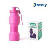 Bouteille réutilisable se pliante portative non-toxique 27oz de la cuvette BPA de silicones de bouteille d'eau de course de cuvette de sports en plein air de gosses de tourisme compressible de bouteille librement
