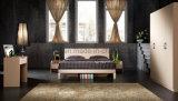 Тип кровать мебели спальни размера двойника твердой древесины Antique европейская (UL-LF007)