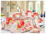 많은 인쇄된 패턴 또는 면 가득 차있는 적합하던 침대보 덧대어깁기 침구 세트