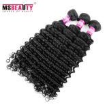 Weave Curly brasileiro do cabelo de Remy do Virgin não processado natural do cabelo humano de 100%