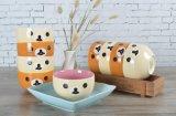 Tazza di ceramica della minestra di abitudine 14oz di alta qualità con il coperchio