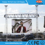 P6 SMD LED de exterior da placa do ecrã para publicidade