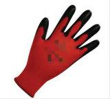 Нитрила цвета классики перчатки полиэфира/хлопка прочно черного Coated