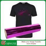 Venta caliente del vinilo metálico del traspaso térmico para la tela