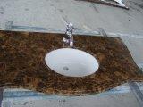浴室のためのインポートされた大理石の暗いEmperadorの虚栄心の上