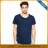 T-shirts de coton de plaine de l'été des hommes en gros