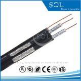 75Ом двойной коаксиальный кабель RG6 с помощью медного провода